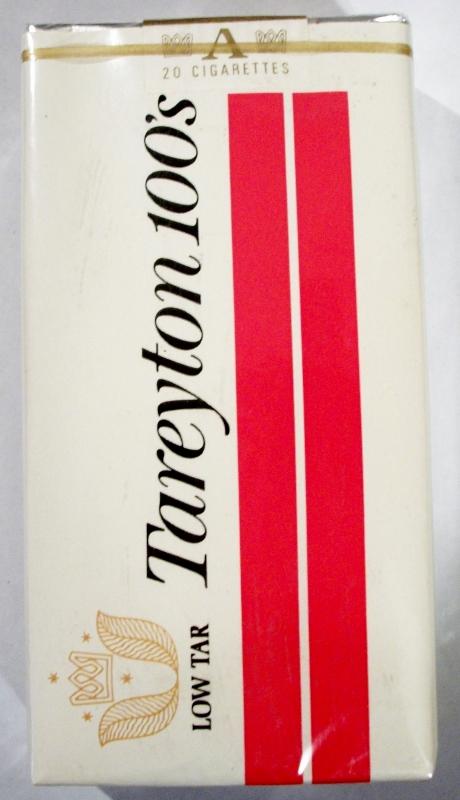 Tareyton 100's Low Tar - vintage American Cigarette Pack