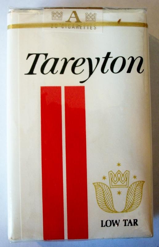 Tareyton Low Tar, king size - vintage American Cigarette Pack