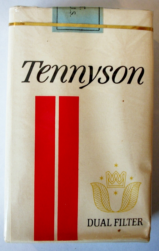 Tennyson Dual Filter, king size 195s - vintage American Cigarette Pack