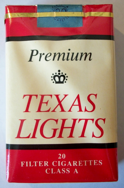 Texas Lights Premium filter - vintage American Cigarette Pack