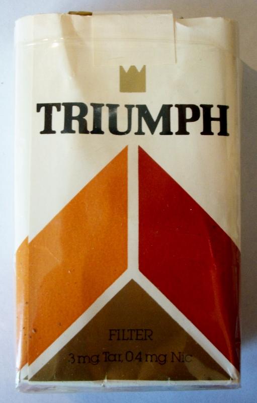 Triumph Filter - vintage American Cigarette Pack