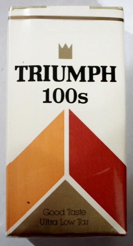 Triumph 100's Filter - vintage American Cigarette Pack