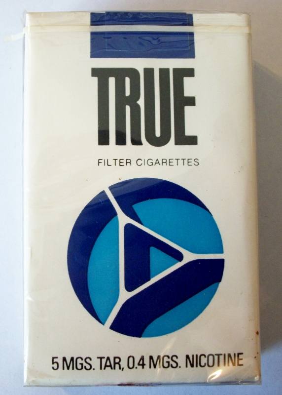 True Filter king size - vintage American Cigarette Pack