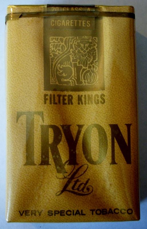 Tryon Ltd. 1960s Filter Kings - vintage American Cigarette Pack