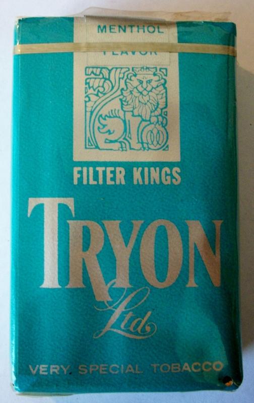 Tryon Ltd. 1960s Menthol Filter Kings - vintage American Cigarette Pack