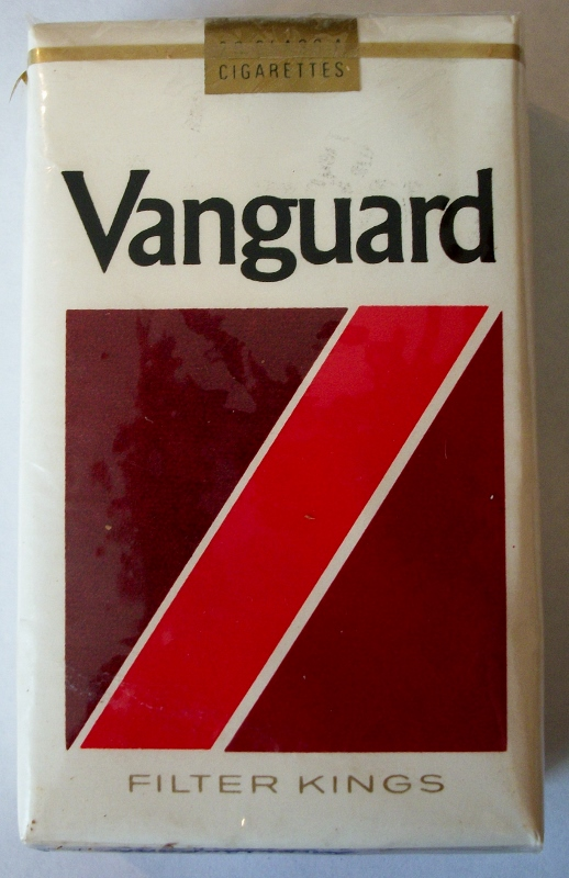Vanguard Filter Kings 1977 - vintage American Cigarette Pack