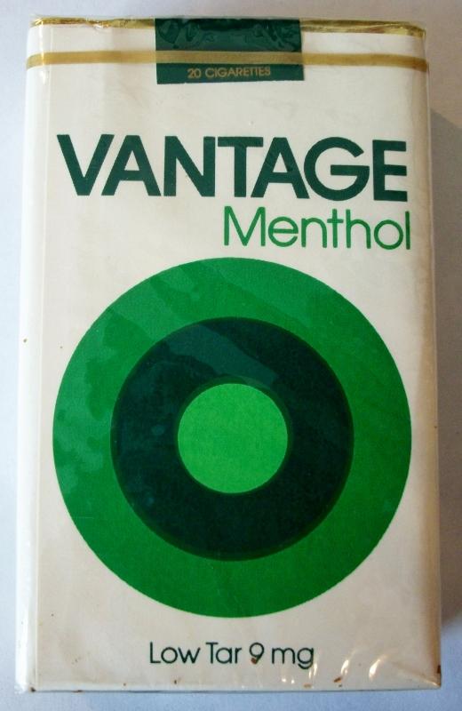 Vantage Menthol Low Tar, king size - vintage American Cigarette Pack