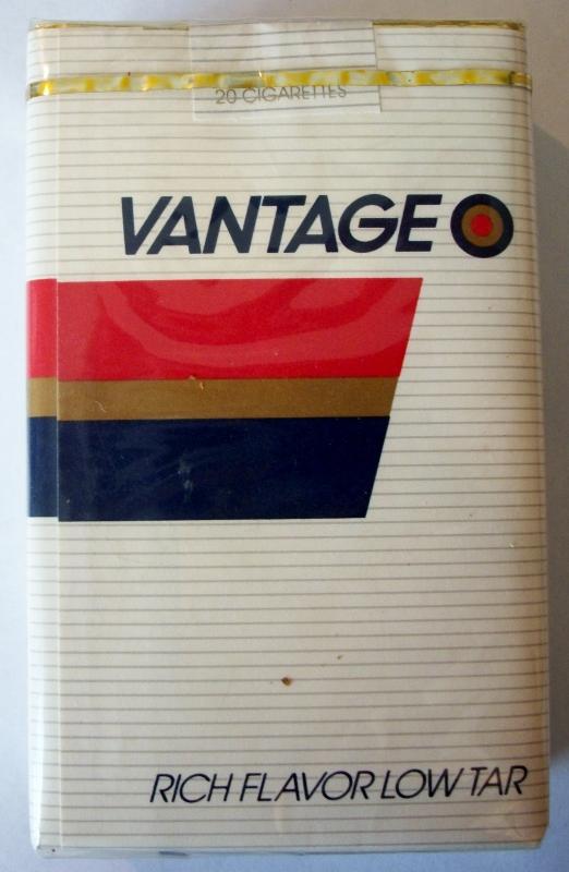 Vantage Rich Flavor, filter - vintage American Cigarette Pack