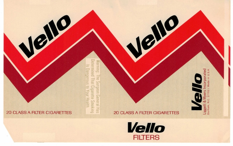 Vello Filters - vintage American Cigarette Pack