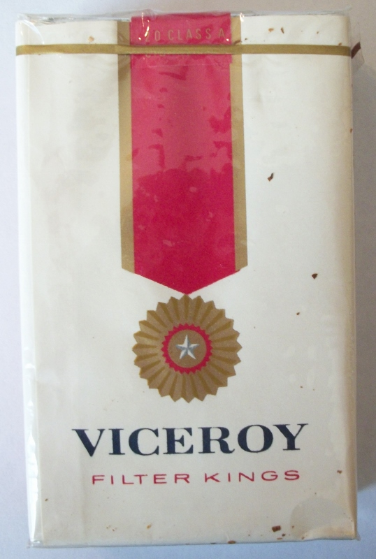 Viceroy Filter Kings - vintage American Cigarette Pack