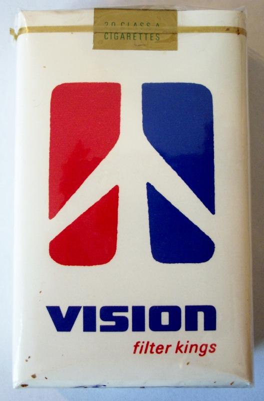 Vision Filter Kings - vintage American Cigarette Pack