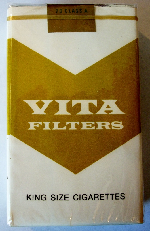 Vita Filters, king size - vintage American Cigarette Pack