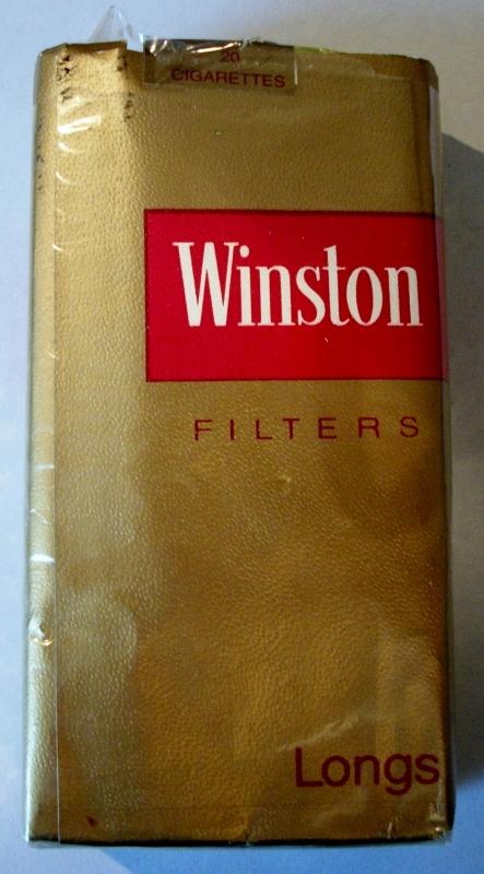 Winston Filters Longs - vintage American Cigarette Pack