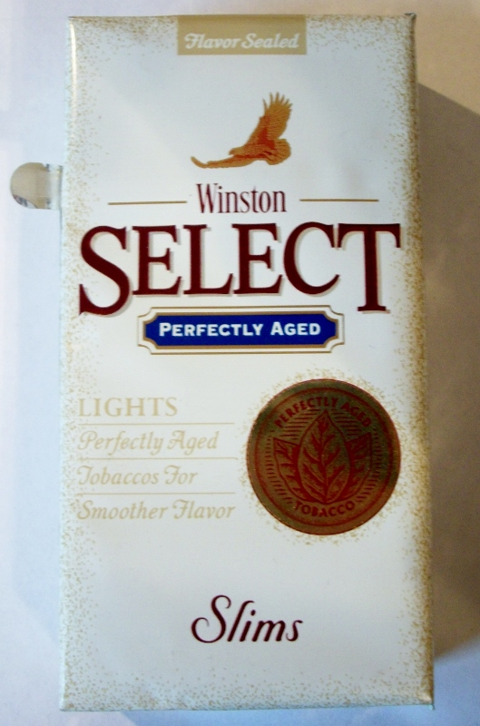 Winston Select Slims Lights, Perfectly Aged - vintage American Cigarette Pack