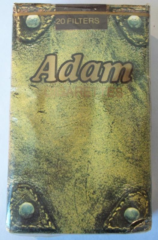 Adam, Filter Kings, Pocket Cover - vintage American Cigarette Pack