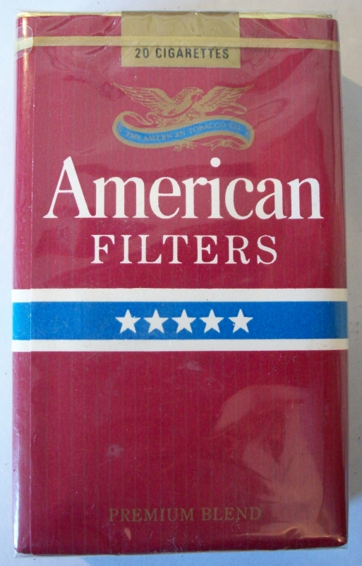 American Filters Premium Blend, king size - vintage American Cigarette Pack