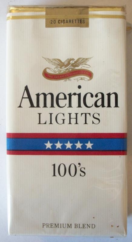 American Lights Premium Blend 100's - vintage American Cigarette Pack