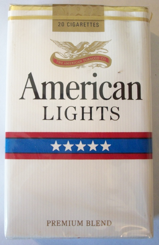 American Lights Premium Blend, king size - vintage American Cigarette Pack