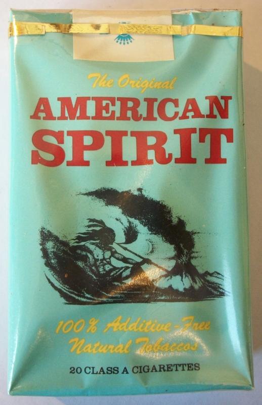 American Spirit Original, King Size - vintage American Cigarette Pack