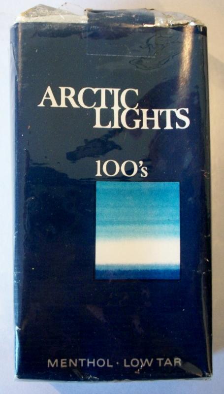 Arctic Lights 100's menthol - Vintage American Cigarette Pack