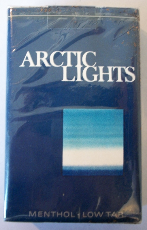 Arctic Lights Menthol, king size - vintage American Cigarette Pack