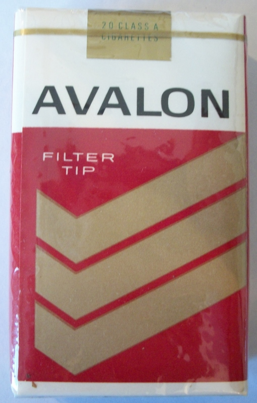 Avalon Filter Tip, King Size - vintage American Cigarette Pack