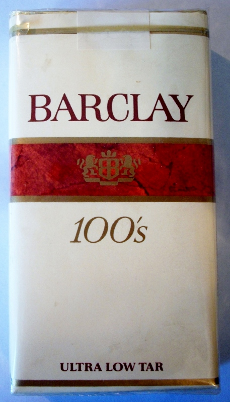 Barclay 100's ultra low tar - vintage American Cigarette Pack