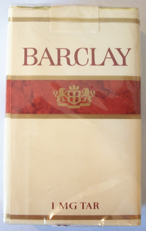 Barclay king size - vintage American Cigarette Pack