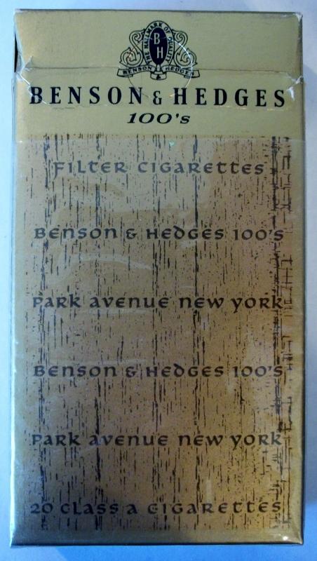 Benson & Hedges 100's Park Avenue Filter - vintage American Cigarette Pack