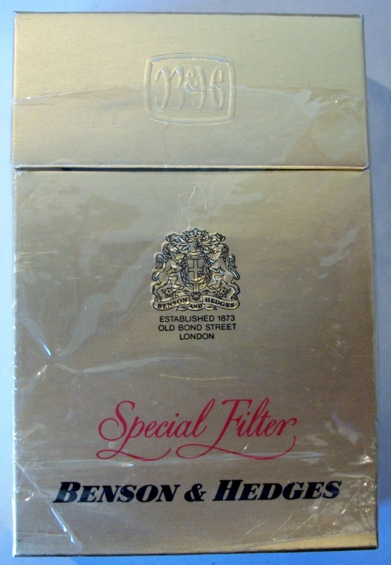 Benson & Hedges Special Filter king size - vintage British Cigarette Pack