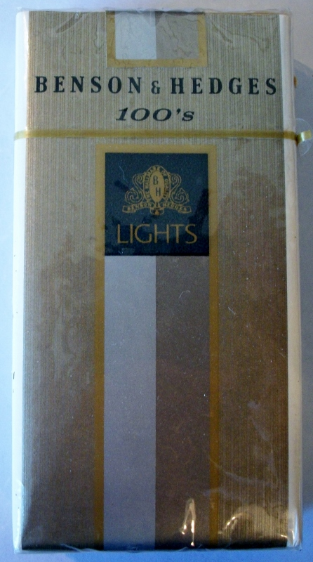 Benson & Hedges 100's Lights Filter - vintage American Cigarette Pack