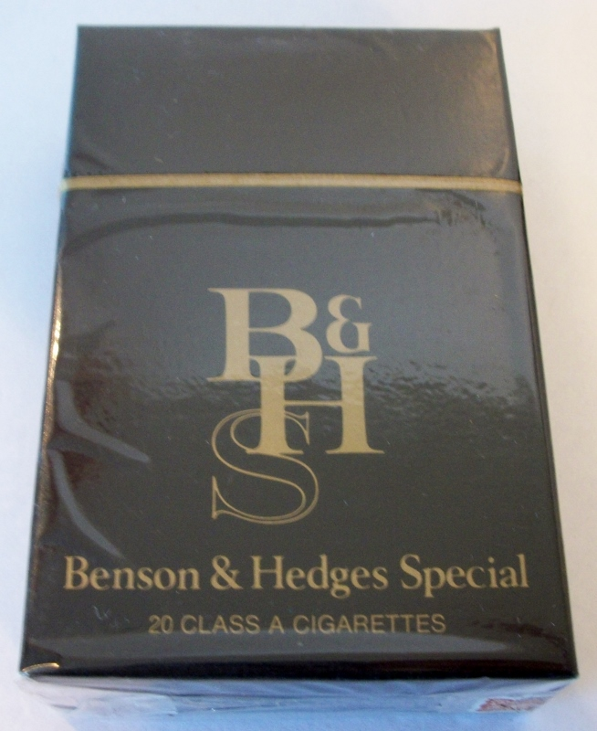 Benson & Hedges Special king size box - vintage American Cigarette Pack