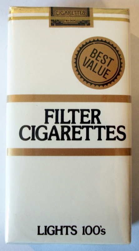 Best Value Filter Lights 100s - vintage American Cigarette Pack