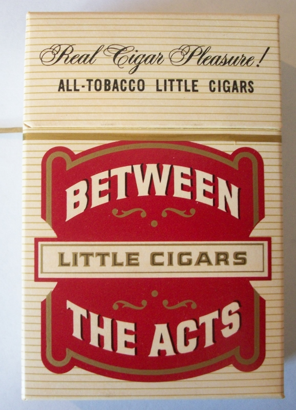 Between The Acts Little Cigars - vintage American Cigarette Pack