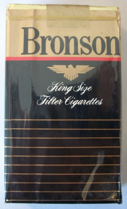 Bronson King Size Filter - vintage American Cigarette Pack
