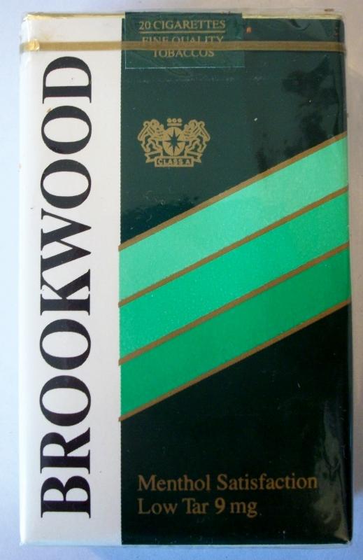 Brookwood 1982 menthol - vintage American Cigarette Pack