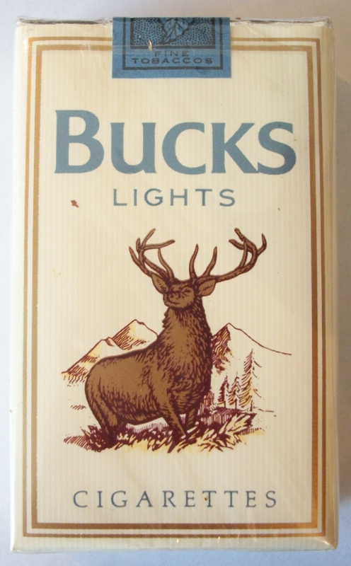 Bucks Lights, king size - vintage American Cigarette Pack
