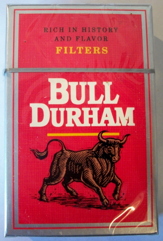 Bull Durham Filters king size box - vintage American Cigarette Pack