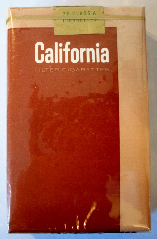California king size - vintage American Cigarette Pack