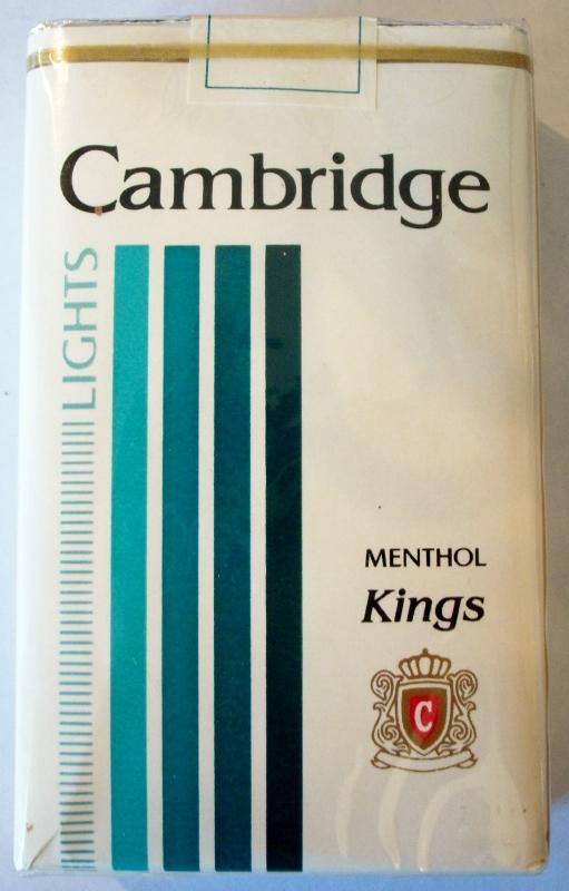 Cambridge Lights Menthol kings - vintage American Cigarette Pack