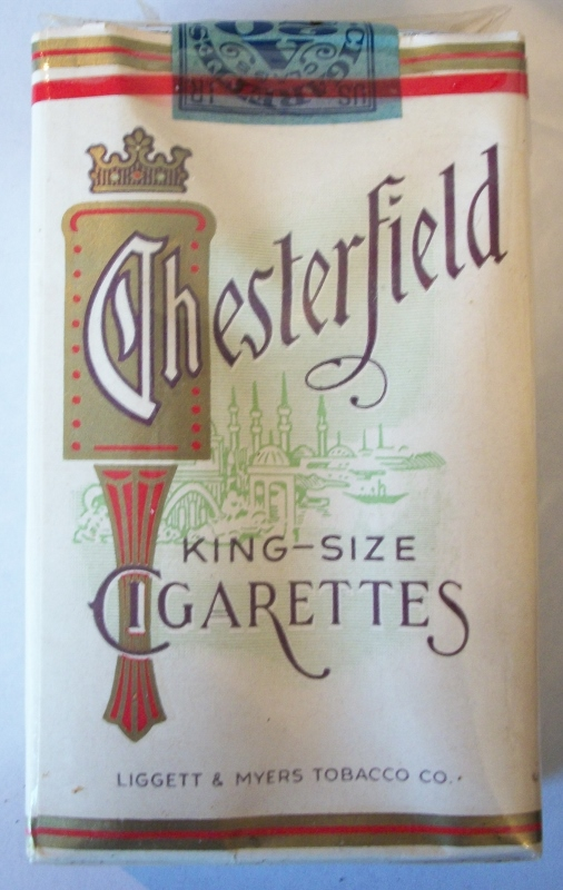Chesterfield 1952 king-size - vintage American Cigarette Pack