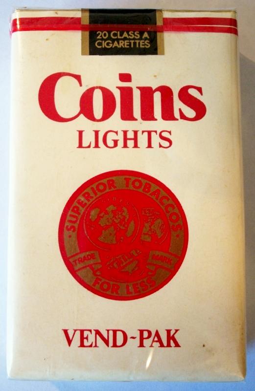 Coins Lights Vend-Pak - vintage American Cigarette Pack