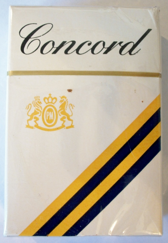 Concord filter king size box - vintage American Cigarette Pack