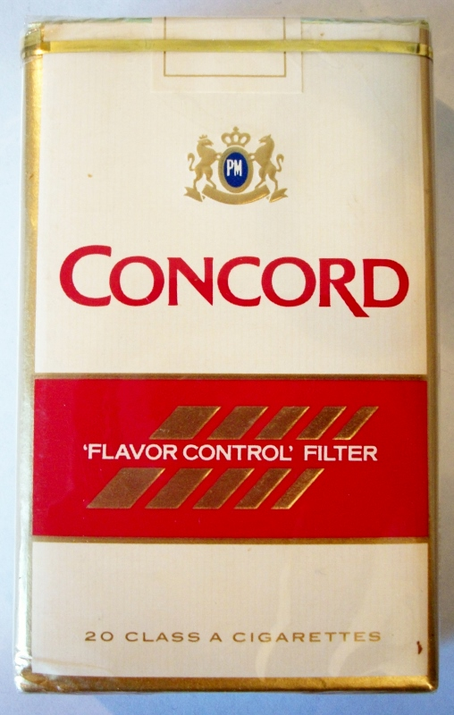 Concord 'Flavor Control' Filter king size - vintage American Cigarette Pack