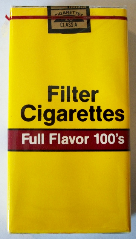 Filter Cigarettes Full Flavor 100's - vintage American Cigarette Pack