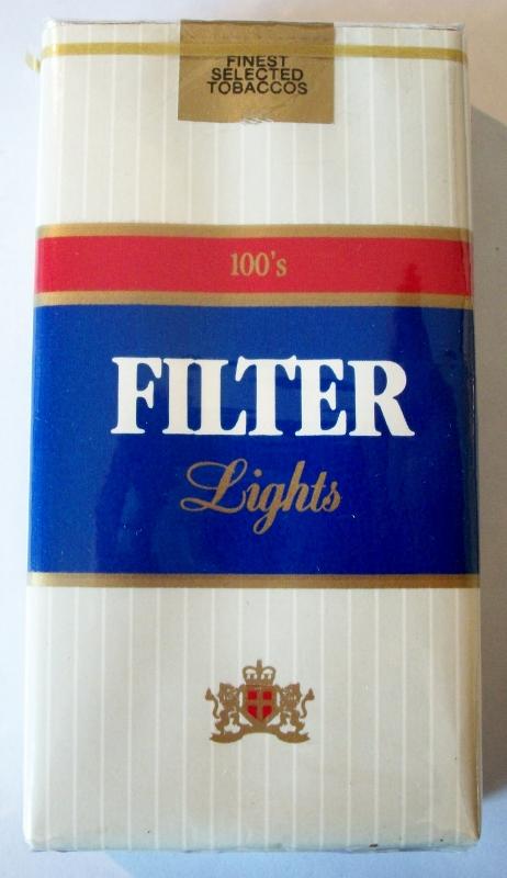 Liggett Filter Lights 100's - vintage American Cigarette Pack