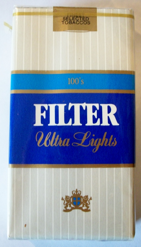 Liggett Filter Ultra Lights 100's - vintage American Cigarette Pack