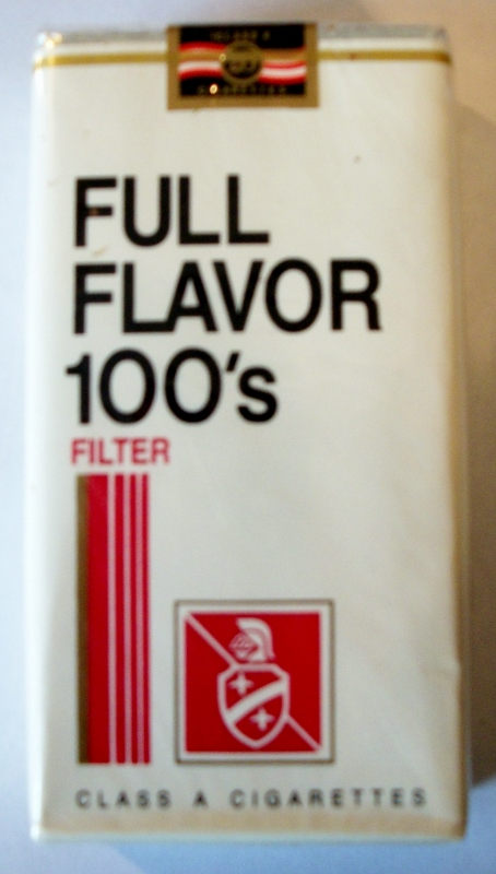 Full Flavor 100's Filter - vintage American Cigarette Pack