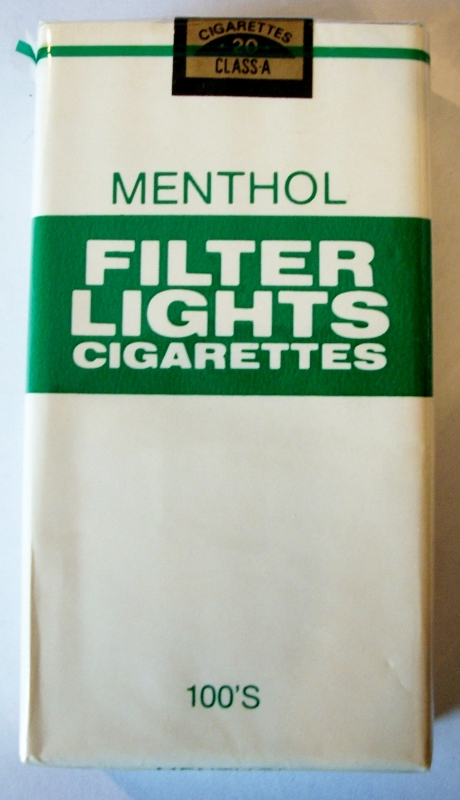 Menthol Filter Lights 100's - vintage American Cigarette Pack