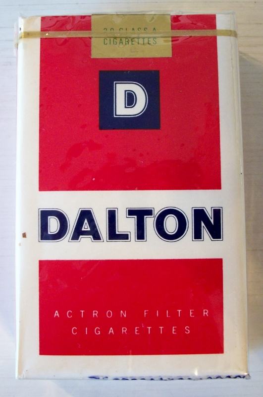 Dalton with Actron Filter, king size - vintage American Cigarette Pack